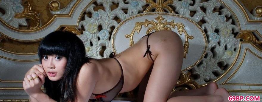 贵族女神嫩模小可_人休摄影艺术