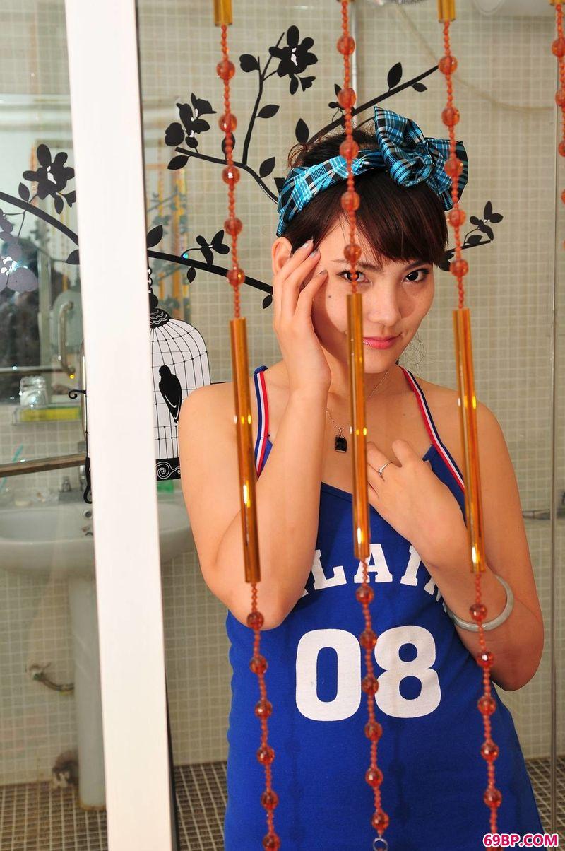 爱丝图美女人体艺术,俏皮甜美美模京京